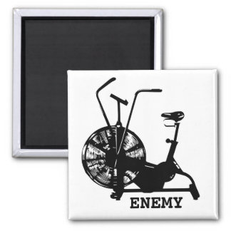 Air Bike Enemy 2 Inch Square Magnet