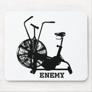 Air Bike Enemy - Black Silhouette Mouse Pad