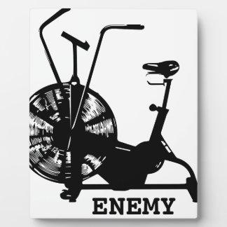 Air Bike Enemy - Black Silhouette Plaque