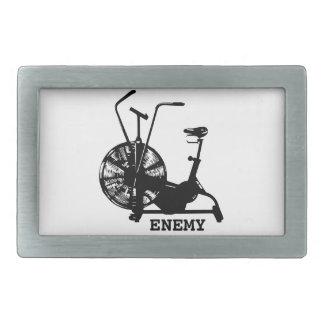Air Bike Enemy - Black Silhouette Rectangular Belt Buckle