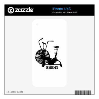 Air Bike Enemy - Black Silhouette Skin For The iPhone 4S