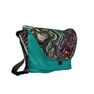 """Air Blob"" digital messenger bag. Courier Bag"
