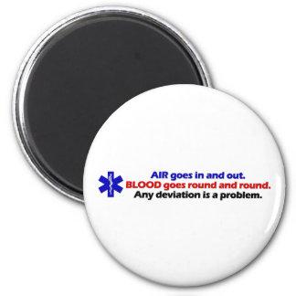 Air/Blood Fridge Magnets