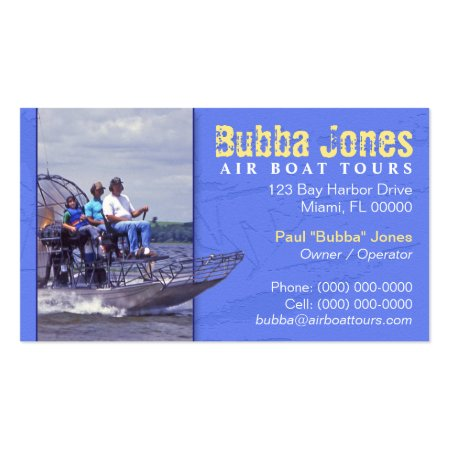 Cool Air Boat Tours Business Cards