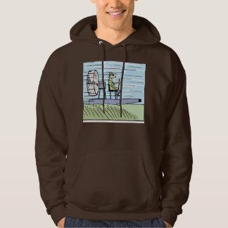 Air Boating Cartoon Hoodie