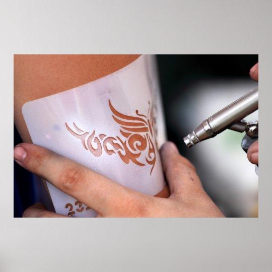 air brush tattoo poster