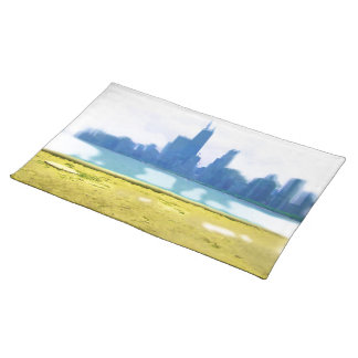 Air Brushed Chicago Cloth Placemat