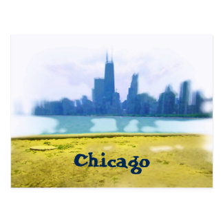 Air Brushed Chicago Skyline Postcard