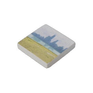 Air Brushed Chicago Skyscrapers Stone Magnet