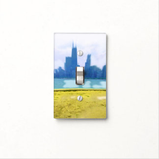 Air Brushed Chicago Skyscrapers Light Switch Cover