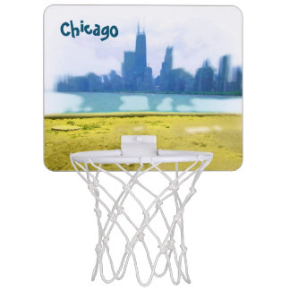 Air Brushed Chicago Skyscrapers Mini Basketball Backboards