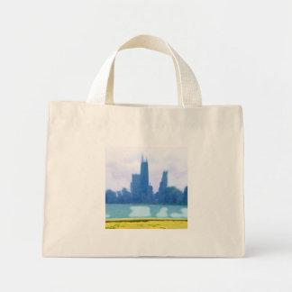 Air Brushed Chicago Skyscrapers Mini Tote Bag