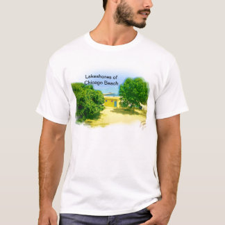Air Brushed Painted Chicago Lake Shores T-Shirt