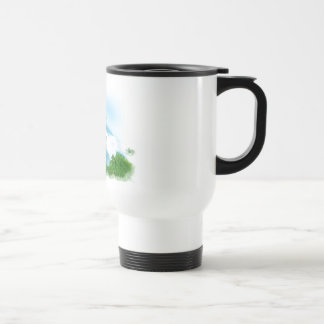 Air Brushed White Fluffy Cloud Travel Mug