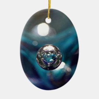 Air Bubble In Glass Ceramic Ornament