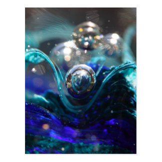 Air Bubble In Glass Postcard