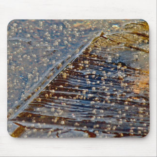 AIR BUBBLES TRAPPED BENEATH THIN ICE MOUSE PAD