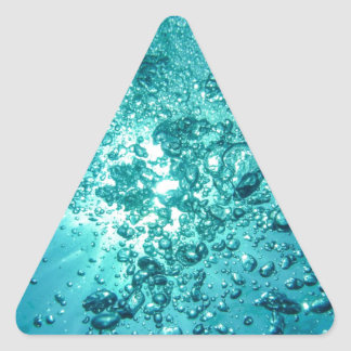 Air Bubbles Water Triangle Sticker