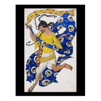 Air - by Leon Bakst from Papillons Ballet Postcard