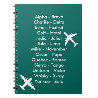 Air Cadet Flying Lesson Learning to Fly Airplanes Spiral Notebook