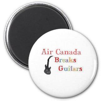 Air Canada Breaks Guitars 2 Inch Round Magnet