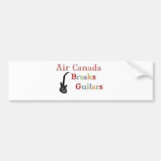 Air Canada Breaks Guitars Car Bumper Sticker