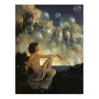 Air Castles, Maxfield Parrish Fine Vintage Postcard