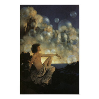 Air Castles, Maxfield Parrish Fine Vintage Poster