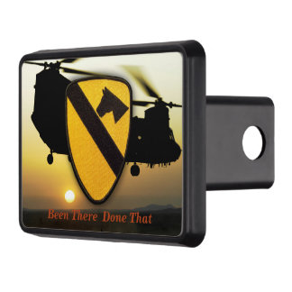 Air cav cavalry 1st 7th fort hood veterans vets trailer hitch cover