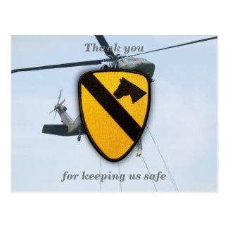 Air cav cavalry fort hood veterans vets patch postcard