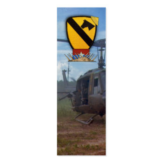 Air Cav Veterans Vets Vietnam War bookmarkers Double-Sided Mini Business Cards (Pack Of 20)