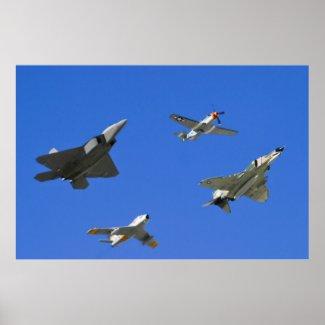 Air Combat Command Heritage Flight Print