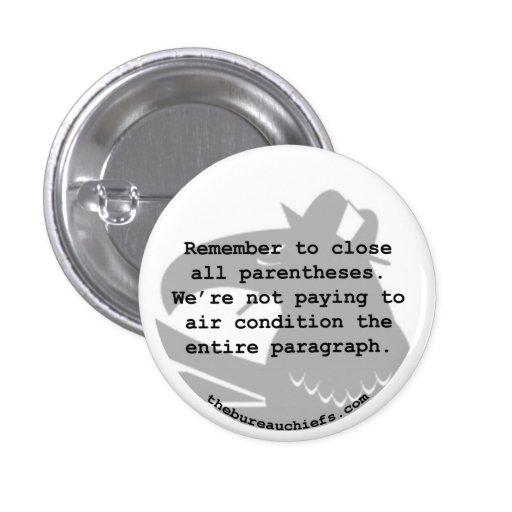 """Air Condition 1.25"""" Button"""