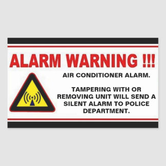 AIR CONDITIONER SECURITY STICKERS