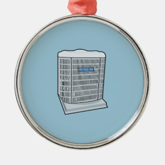 Air Conditioner Unit Ice Cold AC Heat Pump Metal Ornament
