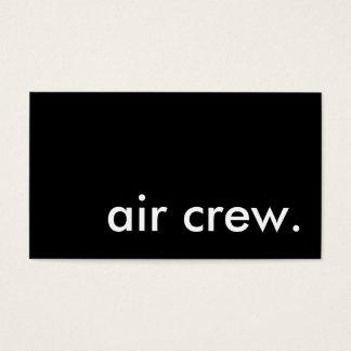 air crew. business card