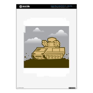 Air Defense Weapon Skin For iPad 3