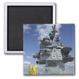 Air department Sailors test the sprinkler syste Fridge Magnets