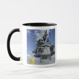 Air department Sailors test the sprinkler syste Mug