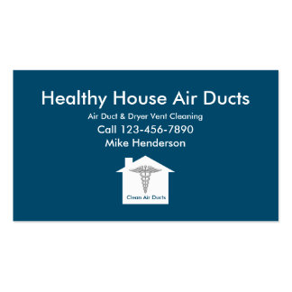 Air Duct Cleaning Business Cards