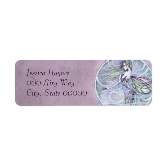 Air Element Fairy Fantasy Art Label