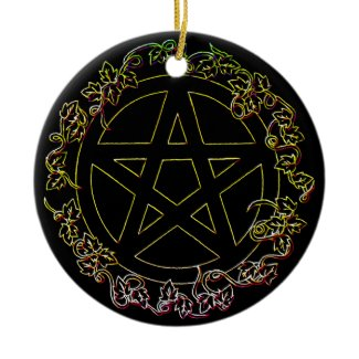 Air Element Pagan Pentacle Ornament ornament