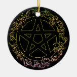 Air Element Pagan Pentacle Ornament