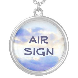 AIR Element Skyscape Round Pendant Necklace