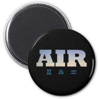 Air Element with Zodiac Signs 2 Inch Round Magnet