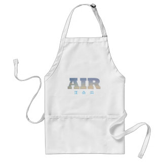 Air Element with Zodiac Signs Adult Apron
