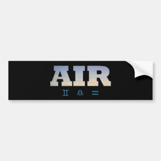 Air Element with Zodiac Signs Bumper Sticker