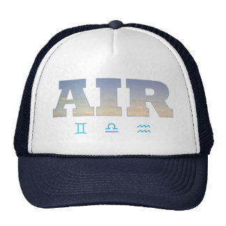 Air Element with Zodiac Signs Trucker Hat