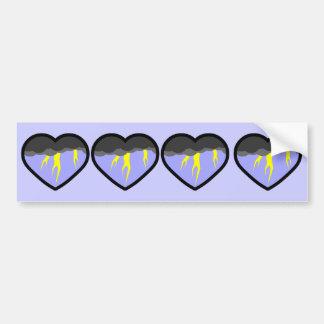 Air Elemental Heart Car Bumper Sticker