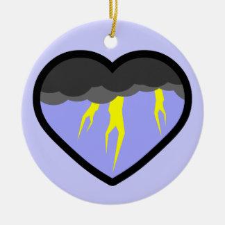 Air Elemental Heart Ceramic Ornament